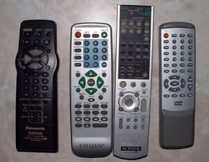 Audio video remote controls stereo tv