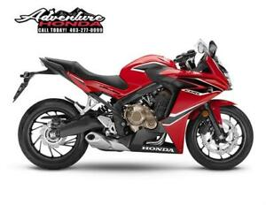 SAVE $1,000! 2018 CBR650F Sport Touring Bike! BRAND NEW!