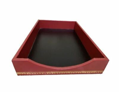 Scully Scully Florentine Leather Single Legal Tray Red 325