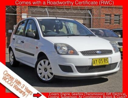 2008 Ford Fiesta WQ LX White 5 Speed Manual Hatchback Granville Parramatta Area Preview
