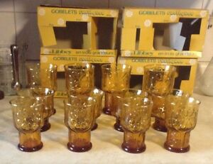 VINTAGE COUNTRY GARDEN.VTG RUSTIC TUMBLERS IN 3 SIZES BY LIBBEY. Gatineau Ottawa / Gatineau Area image 3