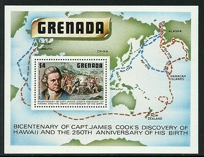 Grenada 899 Mint Never Hinged S/Sheet - Captain Cook