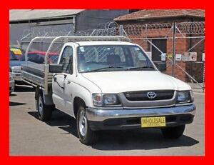 2002 Toyota Hilux RZN149R White 4 Speed Automatic Cab Chassis Granville Parramatta Area Preview