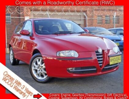 2003 Alfa Romeo 147 2.0 Twin Spark ** Low 131,000 Kms * 5 Speed Manual Hatchback Granville Parramatta Area Preview