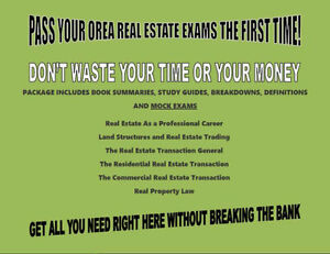 OREA Real-Estate All Phases Notes -WE OFFER YOU FULL MONEY BACK!