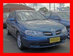 2002 Nissan Pulsar N16 MY03 Q Blue 5 Speed Manual Hatchback Granville Parramatta Area Preview