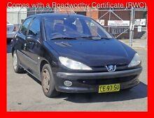 2000 Peugeot 206 XT ** Low 152,000 Kms * 5 Speed Manual Hatchback Granville Parramatta Area Preview