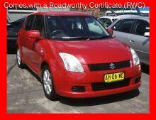 2005 Suzuki Swift EZ Red 5 Speed Manual Hatchback Granville Parramatta Area Preview