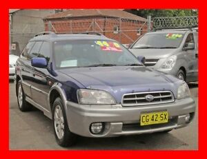 2002 Subaru Outback MY02 Blue 5 Speed Manual Wagon Granville Parramatta Area Preview