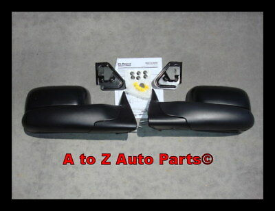 NEW 1994-2001 Dodge Ram MANUAL Tow / Towing Mirrors, OEM Mopar