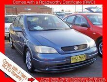 2001 Holden Astra TS CD Polar Sea Blue 4 Speed Automatic Hatchback Granville Parramatta Area Preview