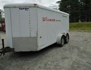 US CARGO 7X14 + V NOSE TANDEM AXLE ENCLOSED TRAILER