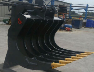 EXCAVATOR ROOT RAKE - CANADIAN BUILT - ALL SIZES AVAILABLE