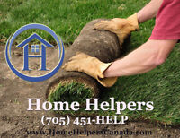 Sod installation, Call Home Helpers