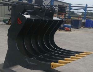 EXCAVATOR ROOT RAKE, NEW, VARIOUS SIZES AVAILABLE
