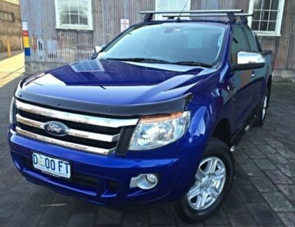2013 Ford Ranger PX XLT Super Cab Aurora Blue 6 Speed Manual Utility Invermay Launceston Area Preview
