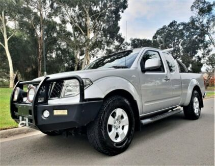 2013 Nissan Navara D40 S6 MY12 ST-X King Cab Silver 6 Speed Manual Utility Medindie Walkerville Area Preview