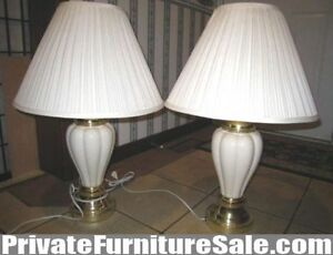 Beautiful 2 Ceramic Table Lamps, 3 step DIMMABLE, up to 150 W