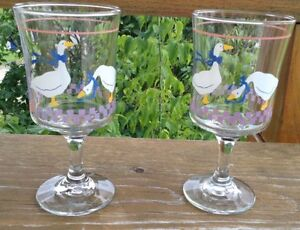 VINTAGE LIBBEY GLASS COUNTRY GOOSEY/GEESE PINK HEART G. Gatineau Ottawa / Gatineau Area image 6