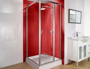 "60 x 32"" Lustrolite High Gloss Shower Panels in seven stunning colors"