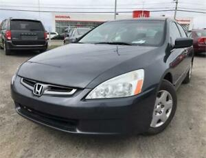 2005 HONDA ACCORD LX-G AIR CLIM. + GROUPE ELECT. + TRES PROPRE!