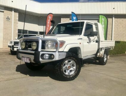 2008 Toyota Landcruiser VDJ79R GXL White 5 Speed Manual Cab Chassis Capalaba Brisbane South East Preview