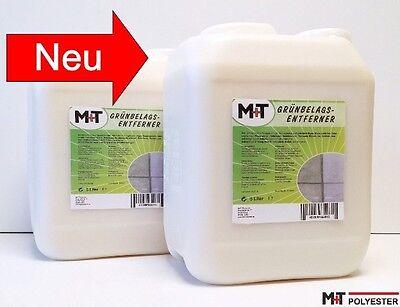 2 X 5 L Algenvernichter und Moos Entferner - 10 L Grünbelag Entferner Konzentrat