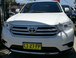 2012 Toyota Kluger KX-S White Automatic Wagon Lansvale Liverpool Area Preview
