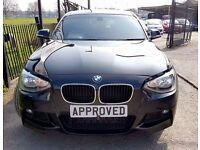 BMW 1 SERIES 2.0 116D M SPORT 5d 114 BHP Apply online and Get A (black) 2014