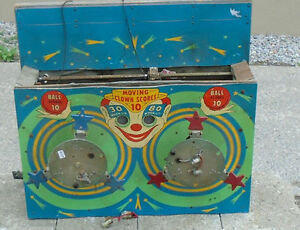 Top Of 1950's/Early 60's Pinball Machine/Shooting Gallery Game