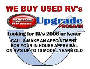 WE BUY USED RV's!! WANTED TOWABLE TRAILERS  TRAVEL TRAILERS