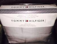 Drap de lit NEUF Tommy Hilfiger brand new bedsheets silver-gris