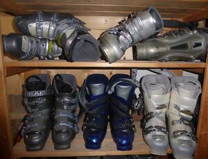 Downhill ski boots, mondo size 24 $ 35, mondo size 25 $ 30