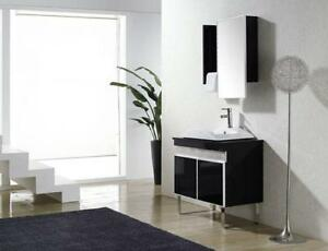 "34"" High Gloss Black Vanity (Display Model)"