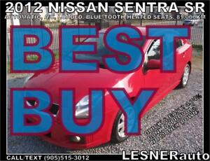 2012 NISSAN SENTRA SR -LOADED BLUE-TOOTH CC HEATED SEATS 81,KM