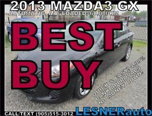 2013 MAZDA3 GX -AUTO LOADED 60KM -BEST BUY!