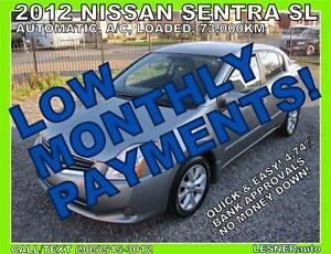 $3000 DOWN, $148 for 60 months! SALE$9588 -2012 NISSAN SENTRA