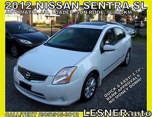 2012 NISSAN SENTRA SL -SUN-ROOF BLUE-TOOTH- 56,KM