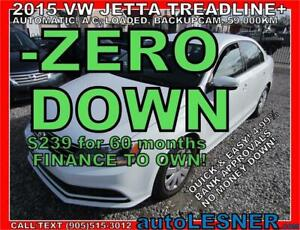 2015 VW Jetta Trendline+ AUTO A/C LOADED BACKUPCAM 59,KM