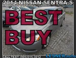 2014 NISSAN SENTRA S-AUTO LOADED 32,KM-$175for60months&$3000down