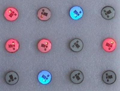 10 pcs Body Flashing LED Lights Up Hotlites Blinking Magnetic Blinky Lapel Pins