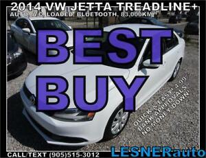 2014 VW JETTA TREADLINE+ AUTO LOADED 83,km-  NO-ACCIDENTS