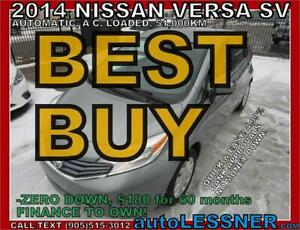 2014 NISSAN VERSA NOTE -AUTO LOADED 51,KM & NO-ACCIDENTS!