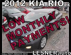 $3000 DOWN, $111 for 60 months! SALE$7880 -2012 KIA RIO LX