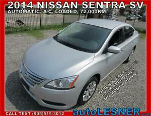 2014 Nissan Sentra SV |NO-ACCIDENTS| LOW KMS | BEST BUY!