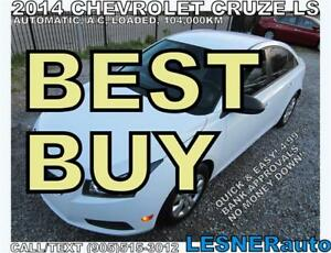 2014 CHEVROLET CRUZE LS -AUTO A/C LOADED 104,KM- (((BEST BUY)))