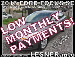 $3000 DOWN, $134 for 60 months! SALE$8988 -2013 FORD FOCUS SE
