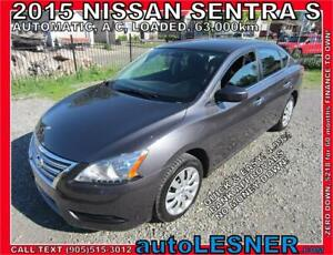 2015 Nissan Sentra S -AUTO LOADED -NO ACCIDENTS! 63,KM