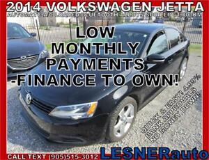 $3000 DOWN, $218 for 60 months! PRICE$12388 -2014 VW JETTA
