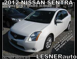 2012 NISSAN SENTRA S FE+ -AUTO A/C LOADED ALLOYS SPOILER-